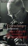 Buchcover Breifwechsel Enzensberger Johnson