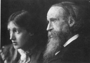 Virginia Woolf mit ihrem Vater