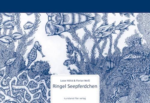 Buchcover Weiß Ringel Seepferdchen